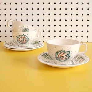 Image of Vintage Midwinter Primavera Cups, Saucer &amp; Plates