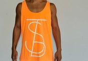 Image of TSB Neon Heather Orange, Tank 50/50