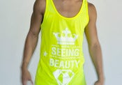 Image of SEEING BEAUTY Neon Tennis Yellow Tank 50/50