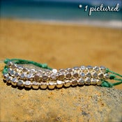 Image of Beachy Irish Linnen Silver Bracelet/Anklet