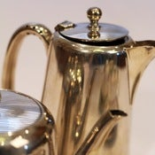 Image of Silver Coffee &amp; Hot Water Pots