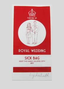 Image of Royal Wedding Sick Bag, Red