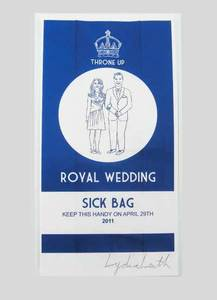 Image of Royal Wedding Sick Bag Blue