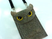Image of Owl - Deluxe gadget case for iPhone, iPod - MADE TO ORDER