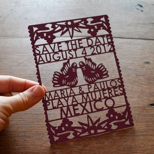 Image of Papel Picado Laser Cut Save the Dates
