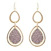 Image of Pamela Earrings - Shagreen