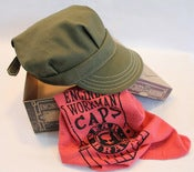 Image of BEAR BRAND Olive Duck Canvas Engineer and Workman Cap w/ Natural Cotton Thread