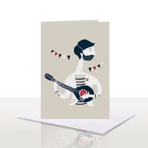 Image of Mandolin Note Card | 75%
