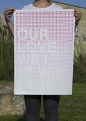 Image of Our Love Will Never Fade Screenprint Pink