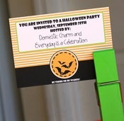 Image of Halloween Bat Party Invitation