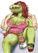 Image of Original Croc illustration from Hot Buttons