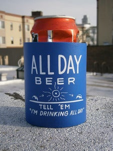Image of Steve Powers - Beer Cozie (All Day Drinking)