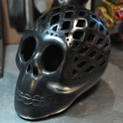 Image of Black Mexican Ceramic Skull