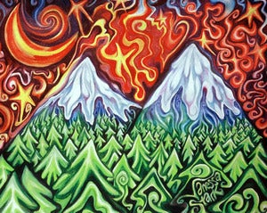 Image of Mountains on Canvas