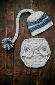 Image of Pixie Hat & Diaper Cover Crochet Pattern Set