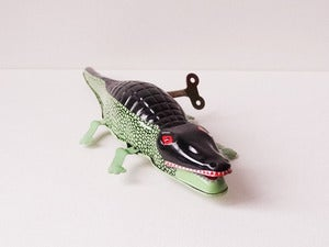 Image of Wind-up Tin Toy - Crocodile