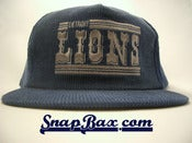 Image of VINTAGE DETROIT LIONS CORDUROY DP SNAPBACK CAP