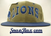 Image of VINTAGE DETROIT LIONS TWILL BLOCK BEIGE SNAPBACK