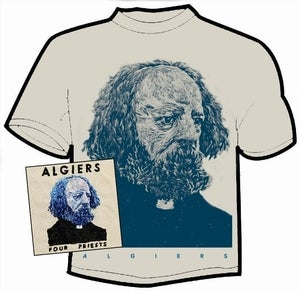 Image of Algiers - Four Priests CDEP and t-shirt
