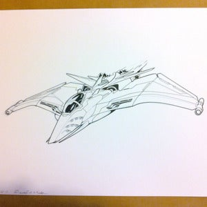 Image of Corax C jet original Battletech artwork
