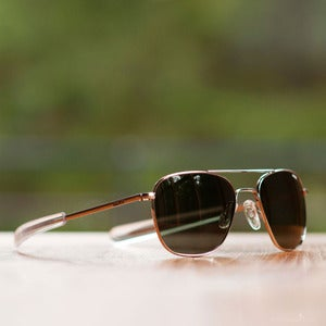 Image of Randolph Engineering Aviator Sunglasses - Bright Chrome Frame AGX Lens