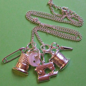 Image of My Vintage Sewing Kit Necklace SALE