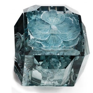 Image of Hand carved Lucite boxes
