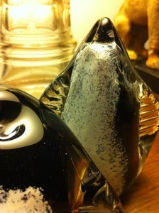 Image of Glass Penguins, hand-made and signed by Anthony Stern