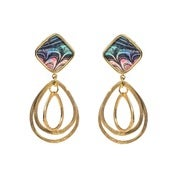 Image of Malorie Earrings-Peacock