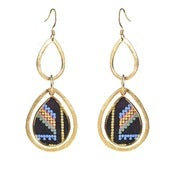Image of Pamela Earrings - Tribal Suede
