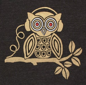 Image of Headphones Owl T-shirt