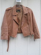 Image of Vintage motorcycle leather jacket