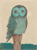 Image of Blue Owl Print