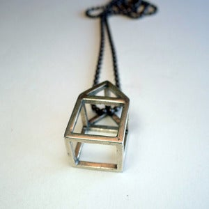 Image of Sterling Silver House Pendant<br/ ><br/ >