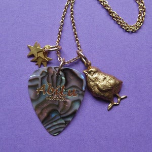 Image of Vintage Rock Chick Plectrum Necklace (various colours)