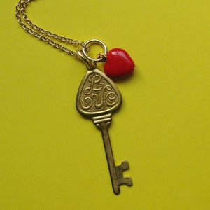 Image of Vintage I love you key Necklace SALE