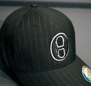 Image of Zero Hedge 'FlexFit' Hat - Black Pinstripe