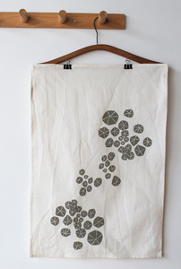 Image of anemone tea towel
