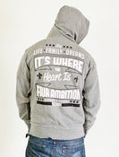 "Image of ""Sentiments"" Zipper Hoodie gunmetal grey"