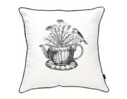 Image of early bird cushion cover {black}