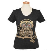 Image of Headphones Owl Scoop Neck