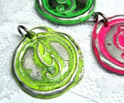 Image of NEON Greenish Yellow Wax Seal Pendant by Ritzy Misfit