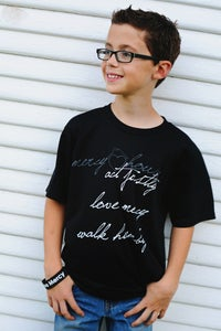 Image of CLEARANCE! Unisex Black Love Mercy {Word} T-Shirt