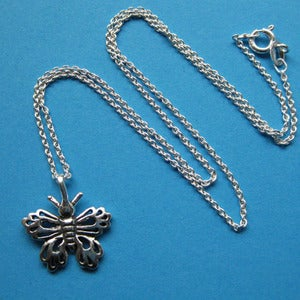 Image of Butterfly Flutter-By Strictly Sterling Necklace