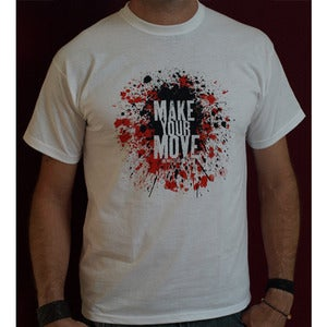 Image of Mens 'Make Your Move' white T-Shirt