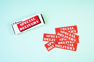 Image of Vintage Special Delivery Dennison Labels- in box