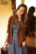 Image of Miss Patina British Dandy Girl Blazer (Brown)