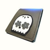 Image of Muerto Grey) Badge Style // Money Clip // Bifold Wallet