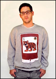 Image of Fm Tigah Blood Crewneck Sweatshirt (Heather Grey)