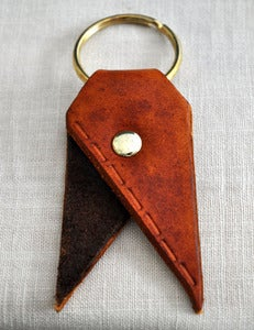 Image of Chestnut/Walnut Running Stitch Bookmark Key Chain